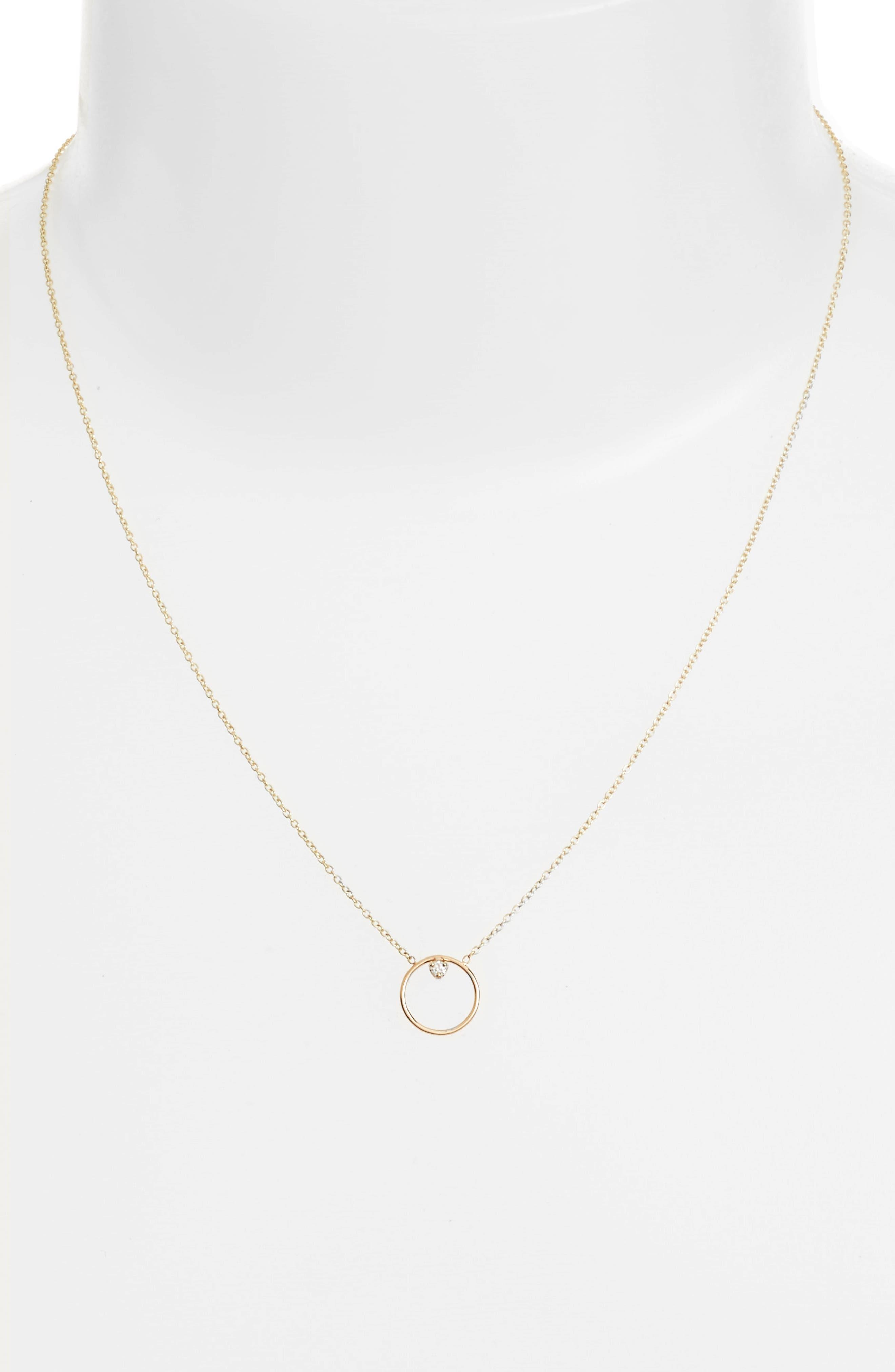 Zoe Chicco Diamond Circle Necklace