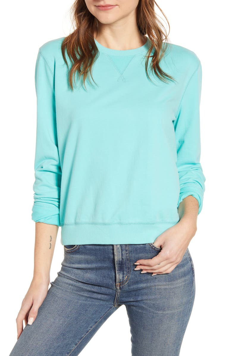 LUCKY BRAND Classic Crewneck Cotton Sweatshirt, Main, color, 441