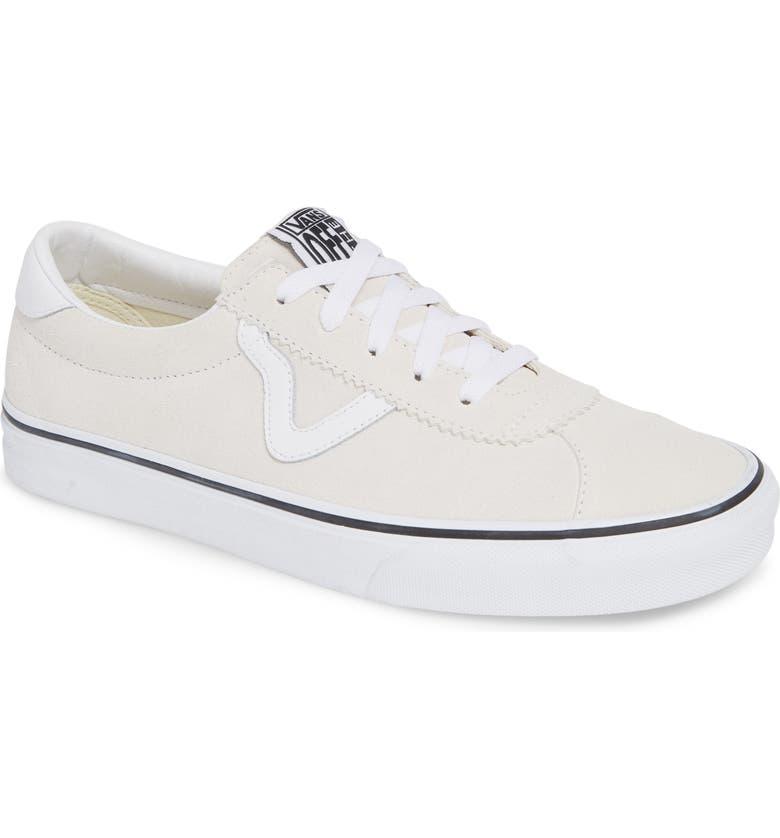 VANS Sport Sneaker, Main, color, WHITE SUEDE