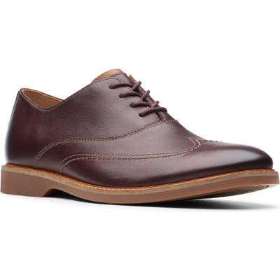 Clarks Atticus Vibe Plain Toe Oxford- Brown