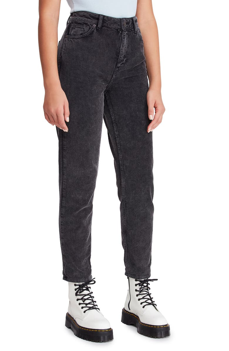 BDG URBAN OUTFITTERS Mom Corduroy Pants, Main, color, BLACK
