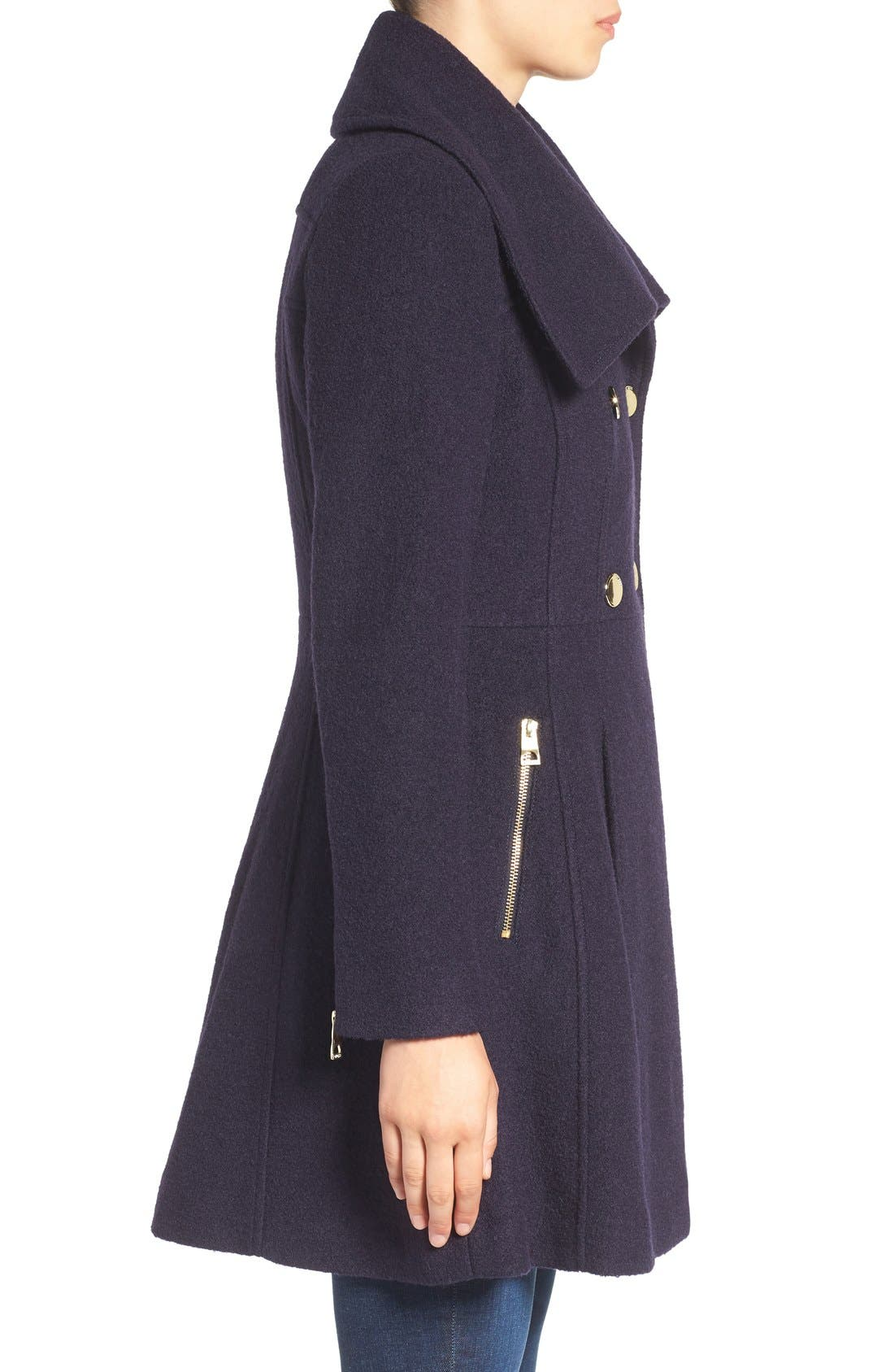 ,                             Envelope Collar Double Breasted Coat,                             Alternate thumbnail 10, color,                             410