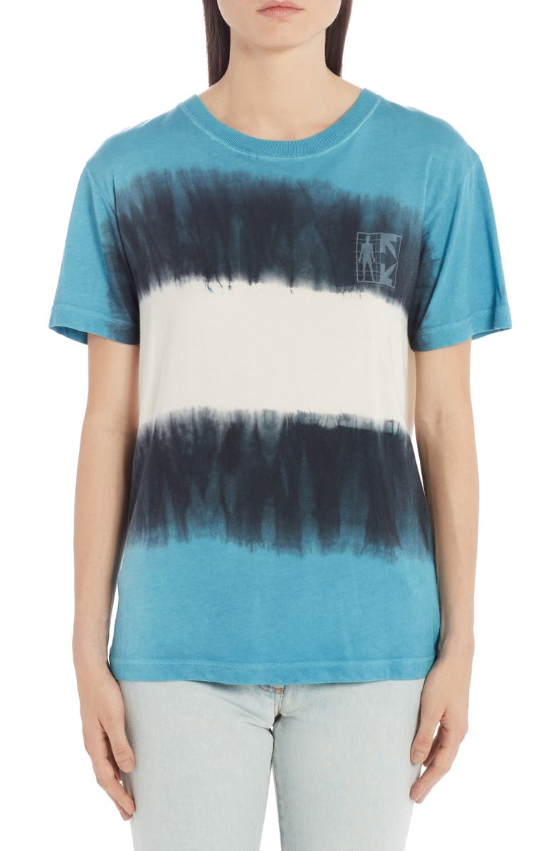 OFF-WHITE Tie Dye Logo Graphic Tee, Main, color, 400