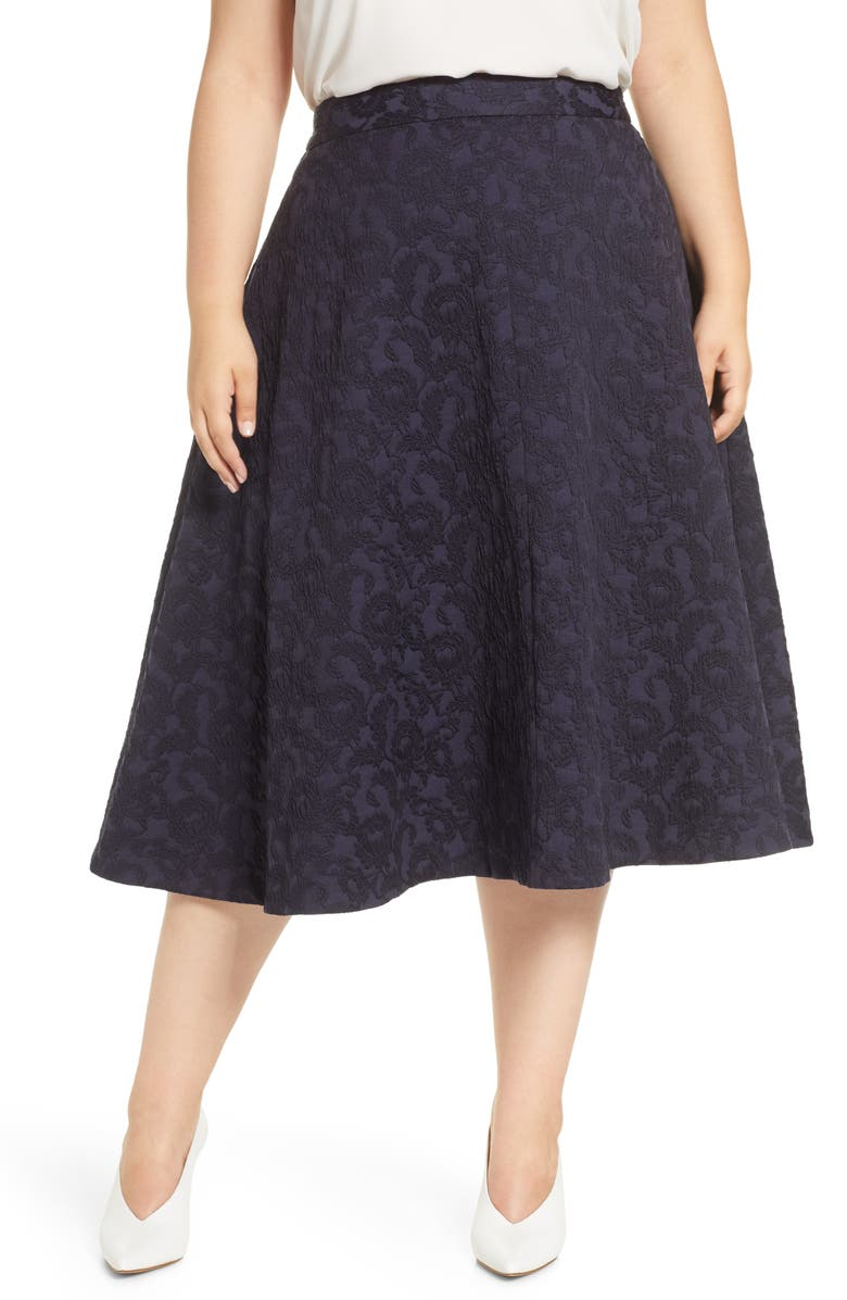HALOGEN<SUP>®</SUP> Jacquard Circle Skirt, Main, color, 401