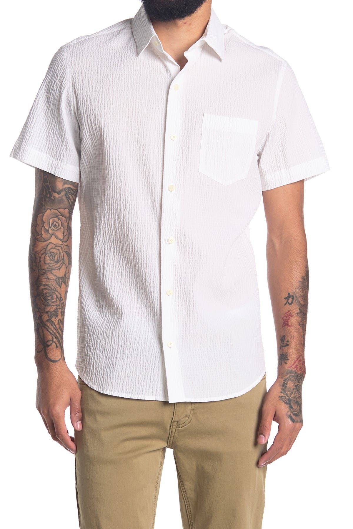 Image of DKNY Short Sleeve Button Down Shirt
