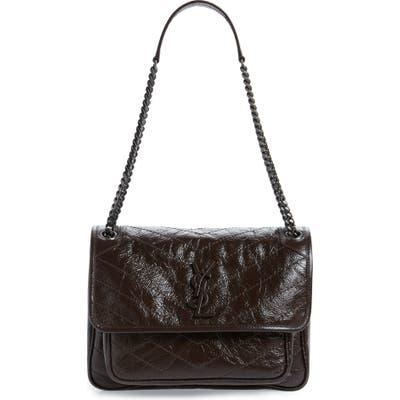 Saint Laurent Medium Niki Leather Shoulder Bag - Brown