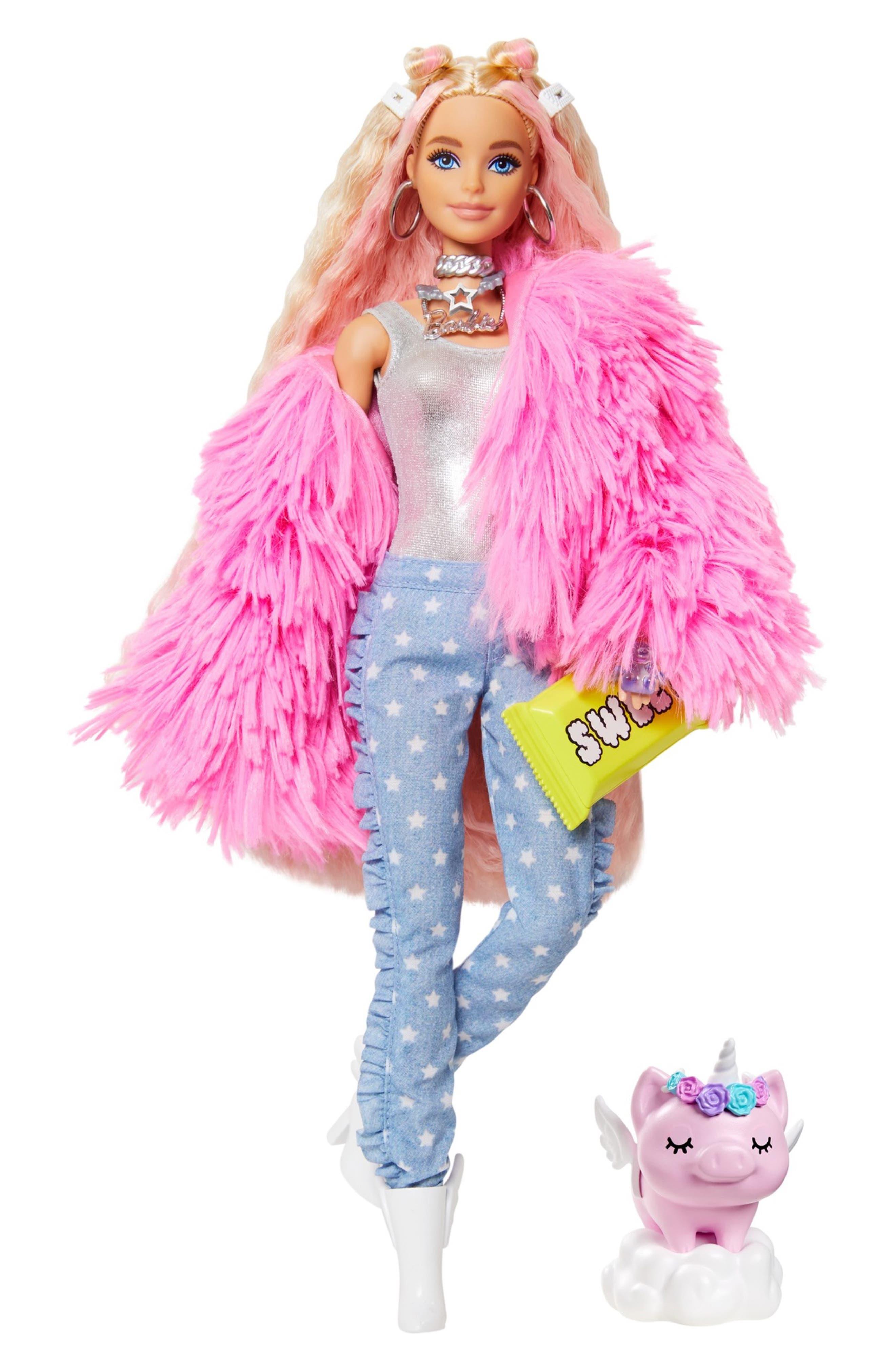 Image of Mattel Barbie(R) Extra Doll - Fluffy Pink Jacket