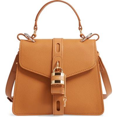 Chloe Medium Aby Calfskin Shoulder Bag - Brown
