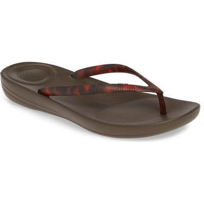 Fitflop Iqushion Flip Flop, Brown