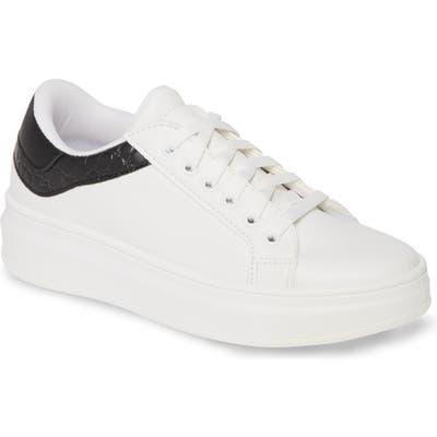 Topshop Cuba Platform Sneaker - White