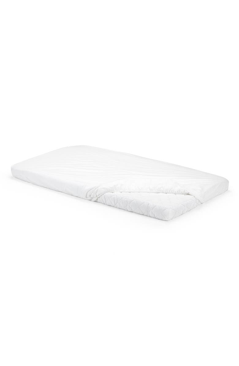STOKKE 'Home<sup>™</sup> Bed' Fitted Cotton Sheet, Main, color, 101