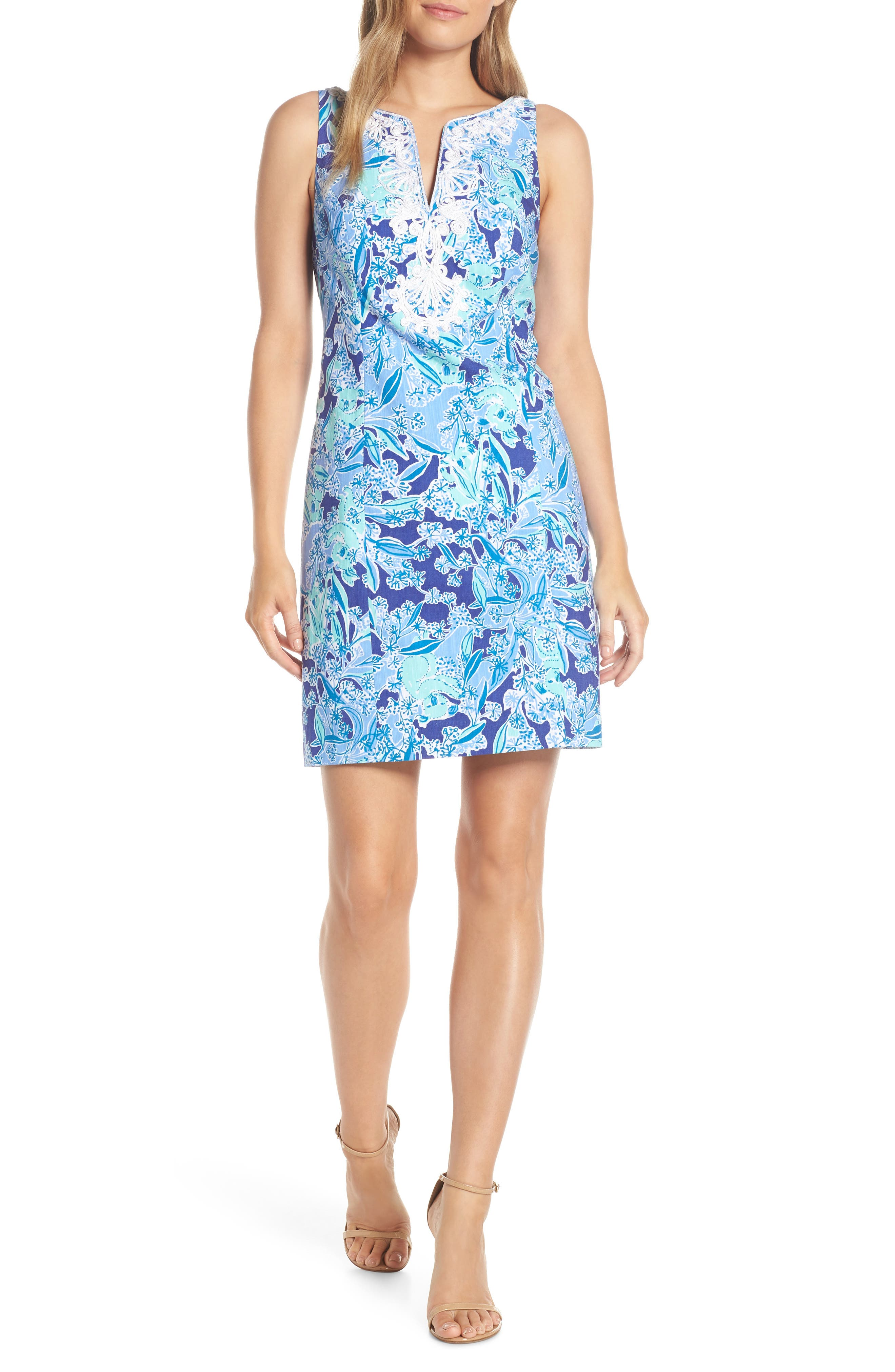 Lilly Pulitzer Gabby Sheath Dress, Purple