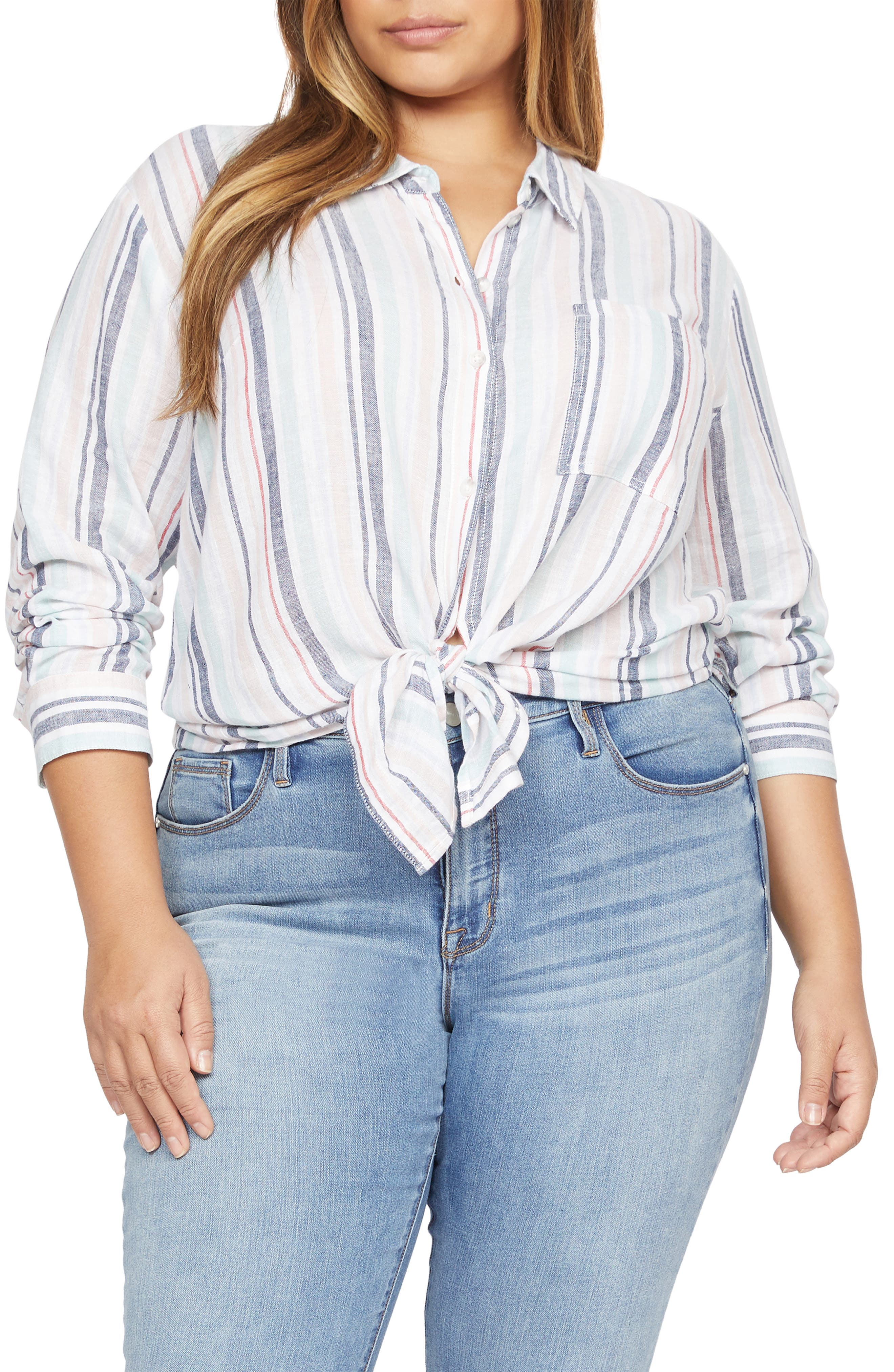 Image of Sanctuary Keepers Button Front Linen Blend Shirt