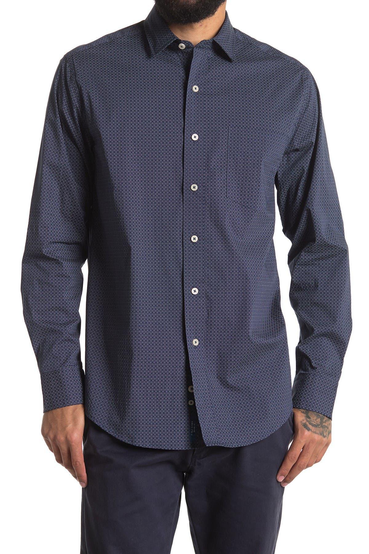 Image of Cole Haan Spread Collar Long Sleeve Sport Shirt