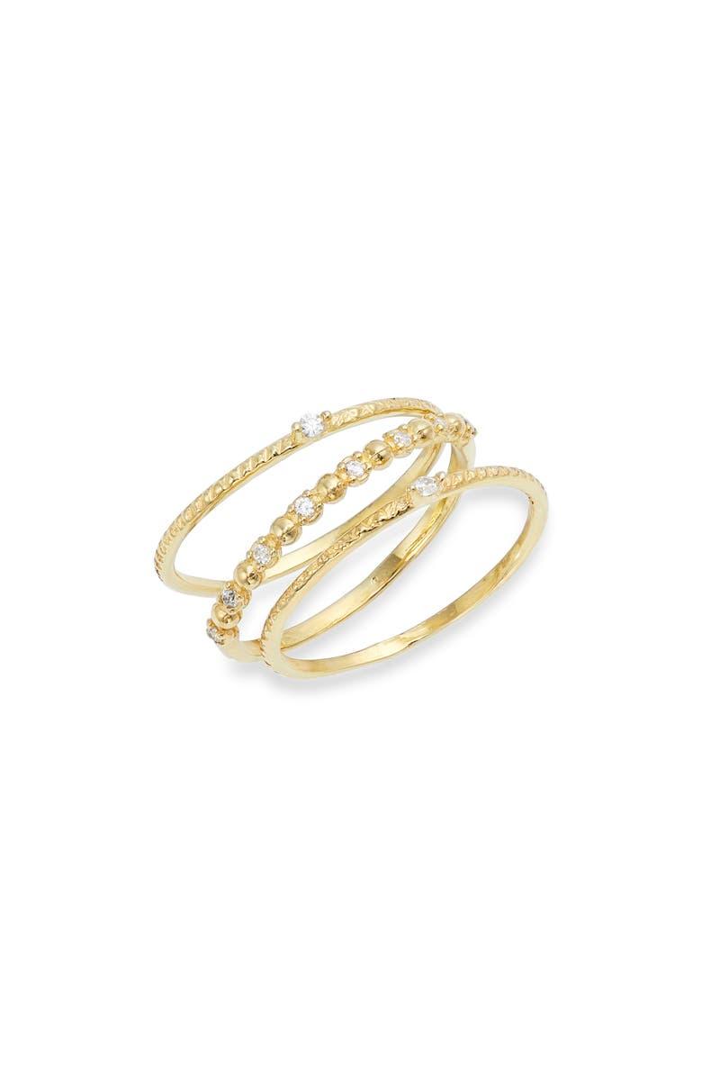 ADINA'S JEWELS Dainty Set of 3 Rings, Main, color, 710