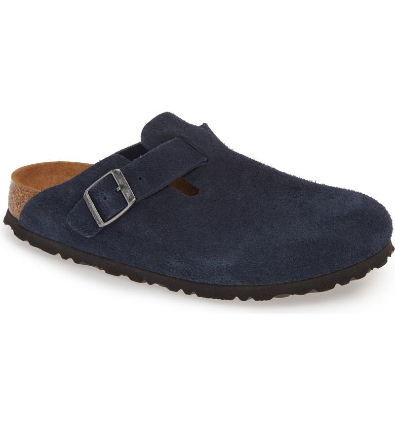 BIRKENSTOCK 'Boston' Soft Footbed Clog, Main, color, NIGHT SUEDE