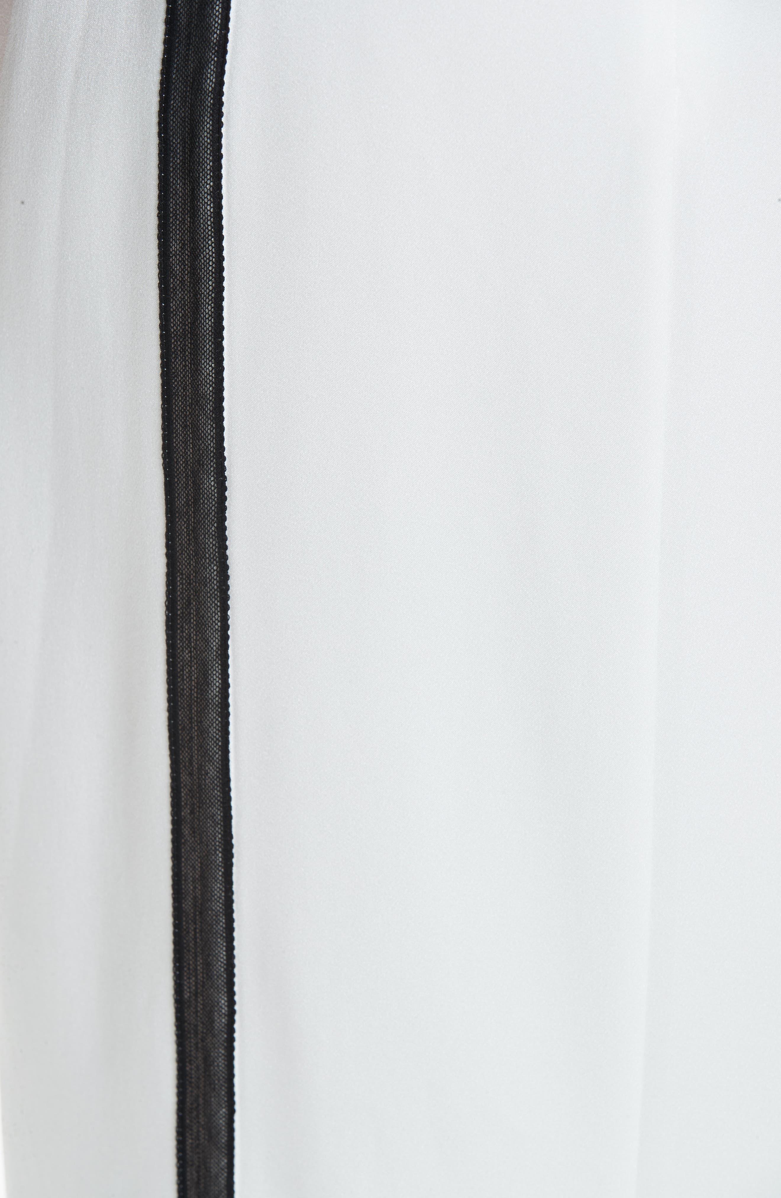 ,                             Crepe Back Satin Dress,                             Alternate thumbnail 6, color,                             COCONUT WHITE