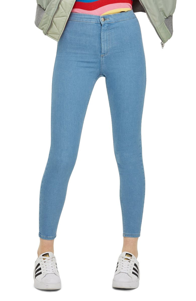 TOPSHOP Joni High Waist Ankle Super Skinny Jeans, Main, color, BLEACH