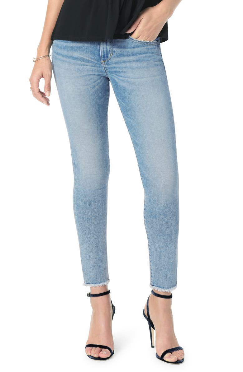 JOE'S Icon Frayed Crop Skinny Jeans, Main, color, WILLOW