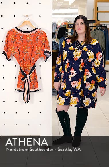 Bowie Floral Belted Romper, sales video thumbnail