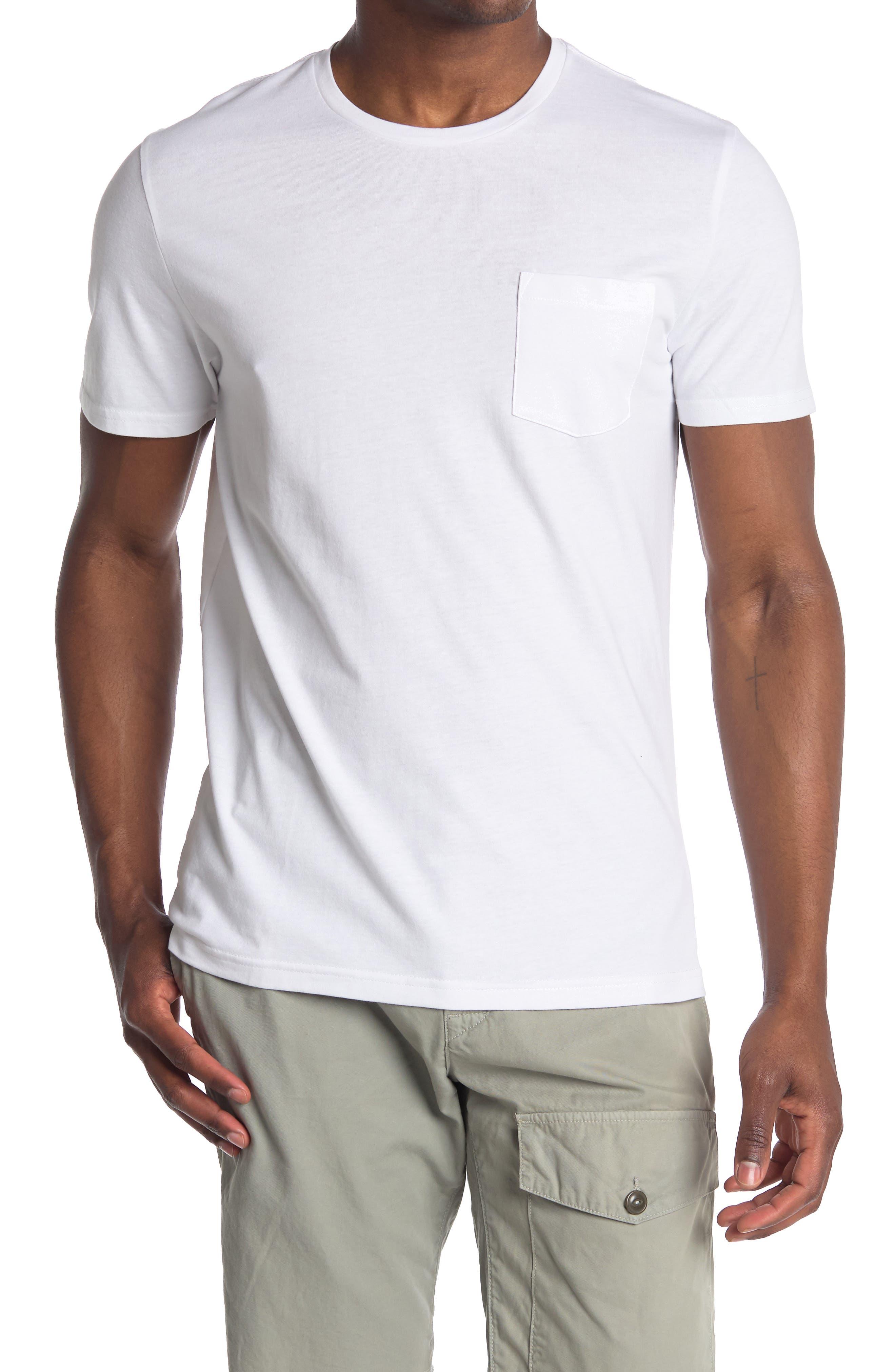1950s Mens Shirts | Retro Bowling Shirts, Vintage Hawaiian Shirts Abound Short Sleeve Pocket Crewneck T-Shirt Size 2XL - White at Nordstrom Rack $9.97 AT vintagedancer.com