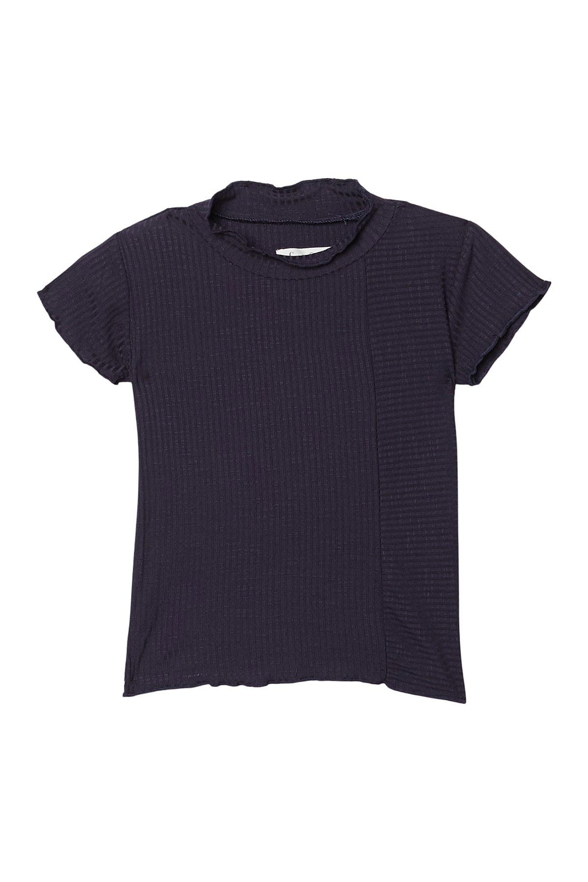 Image of Sovereign Code Frannie Mock Neck Rib Knit Top