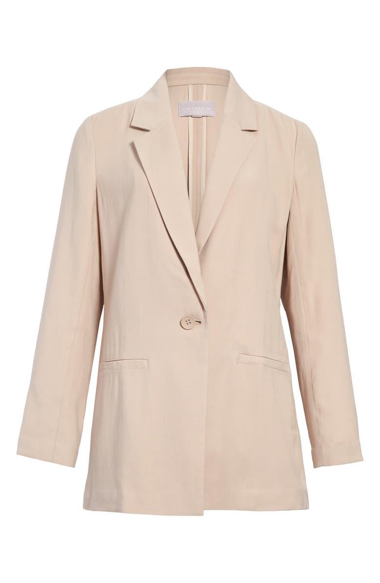 CHELSEA28 Front Button Blazer, Main, color, TAN MEMOIR