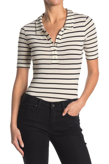 Image of Abound Stripe Print Short Sleeve Polo Bodysuit