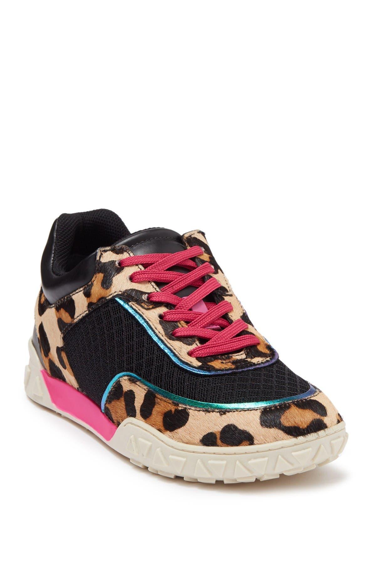 Image of Schutz Naila Leopard Print Sneaker