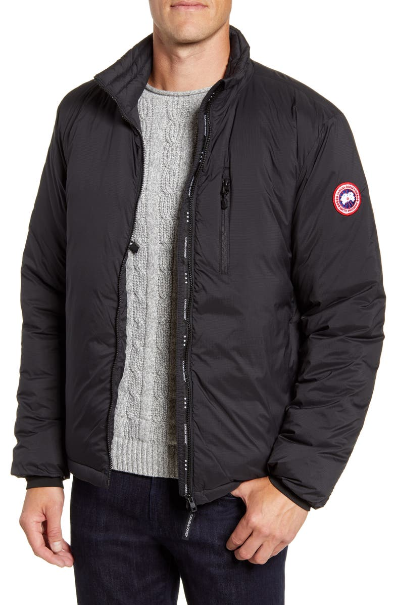 CANADA GOOSE Lodge Packable 750 Fill Power Down Jacket, Main, color, BLACK