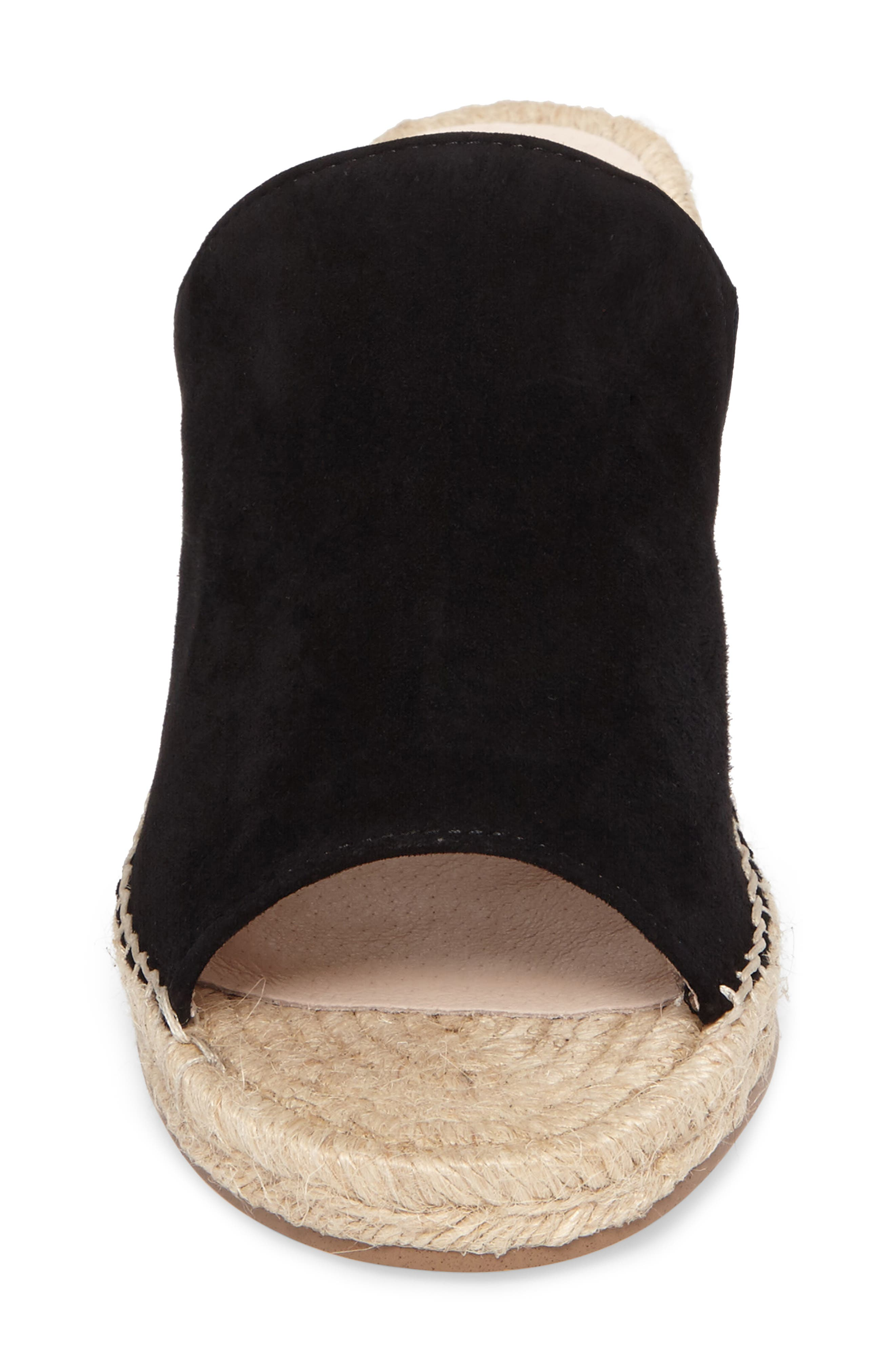 ,                             Sally Wedge Sandal,                             Alternate thumbnail 4, color,                             BLACK SUEDE
