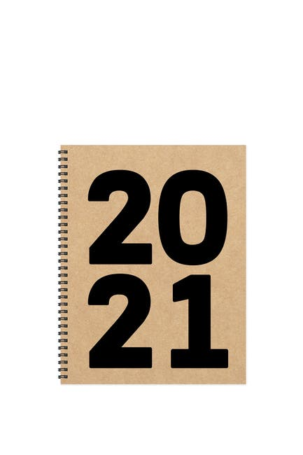 Image of TF Publishing 2021 Kraft Year Large Weekly Monthly Planner