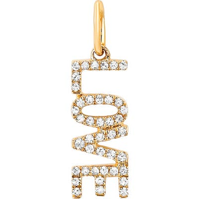 Ef Collection Diamond Love Pendant Charm
