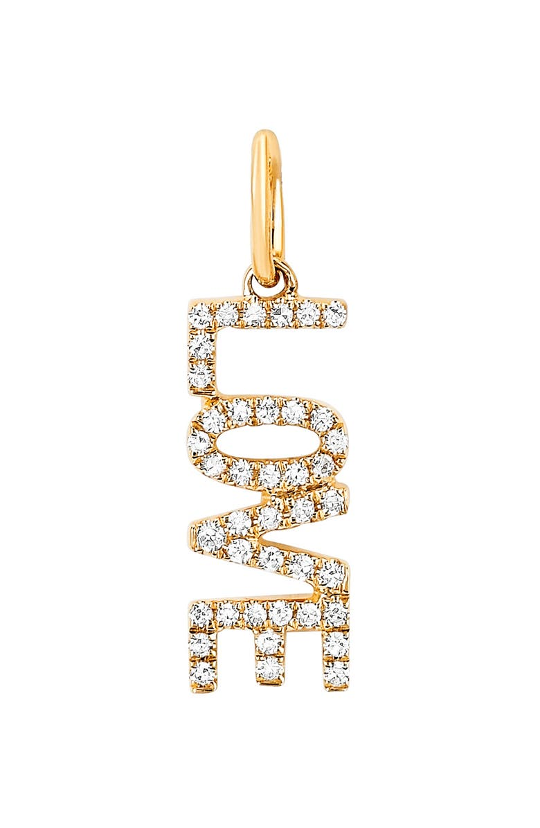 EF COLLECTION Diamond Love Pendant Charm, Main, color, 710