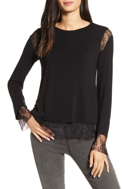 Bailey44 Tops ISABEL LACE TRIM TOP