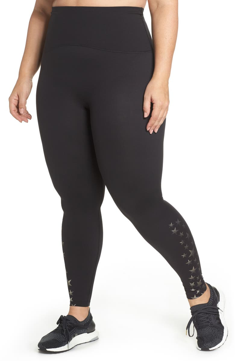 SPANX<SUP>®</SUP> Active Full Length Leggings, Main, color, METALLIC STAR