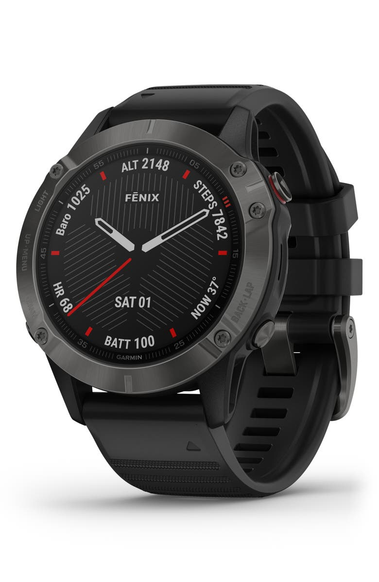 GARMIN fenix<sup>®</sup> 6 Sapphire Premium Multisport GPS Watch, 47mm, Main, color, CABRON GREY/ BLACK