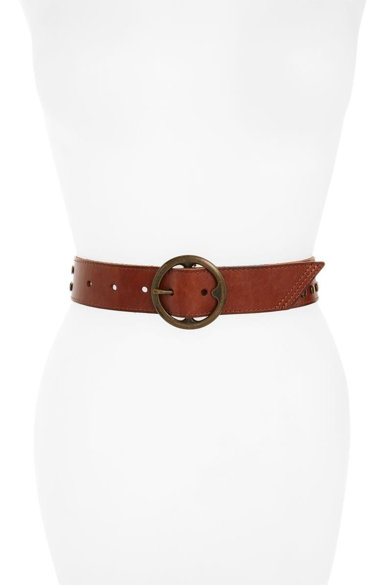 TREASURE & BOND Treasure&Bond Studded Leather Belt, Main, color, 230