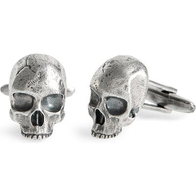 John Varvatos Skull Cuff Links