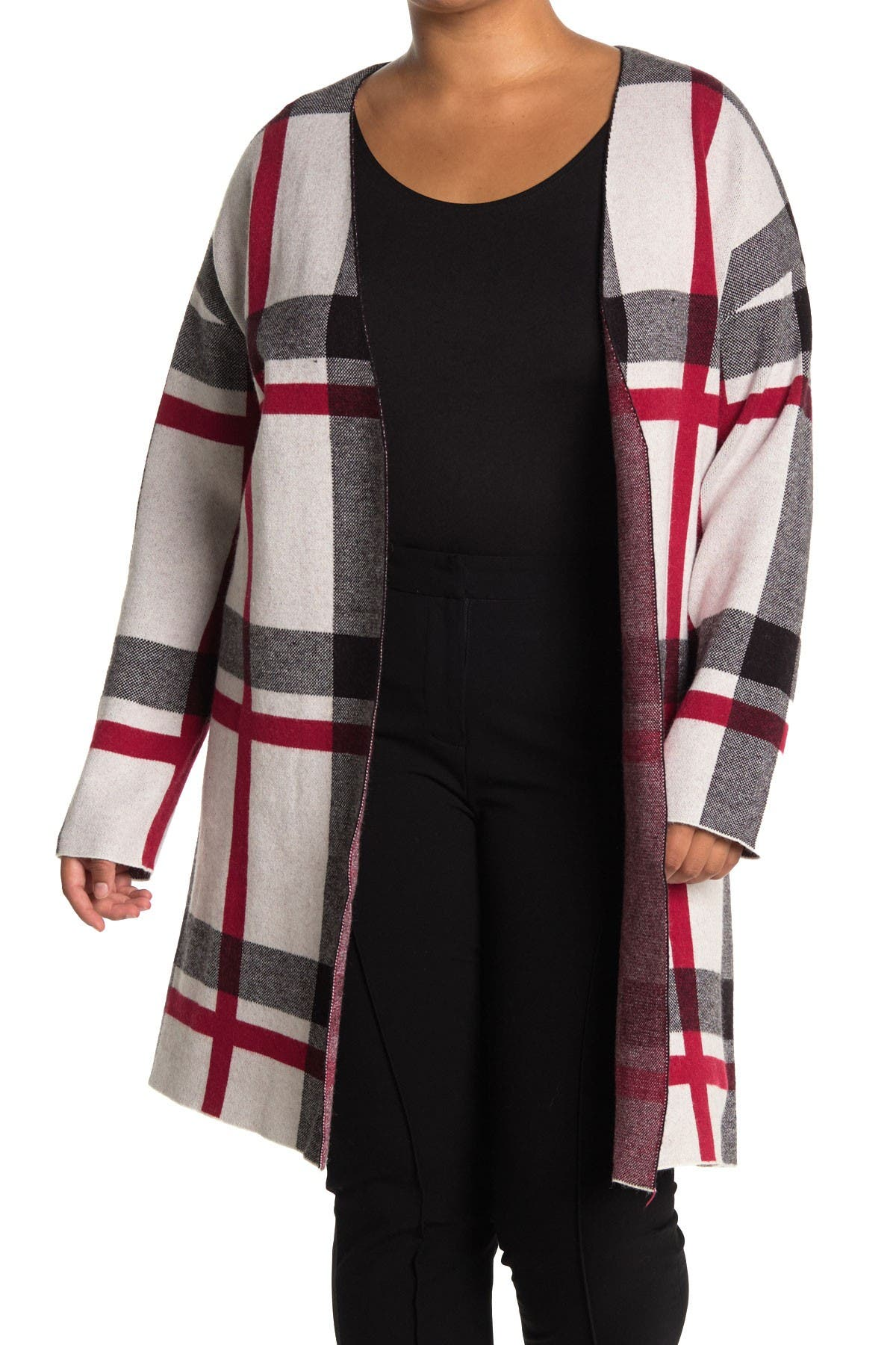 Image of JOSEPH A Maxi Open Front Pattern Cardigan