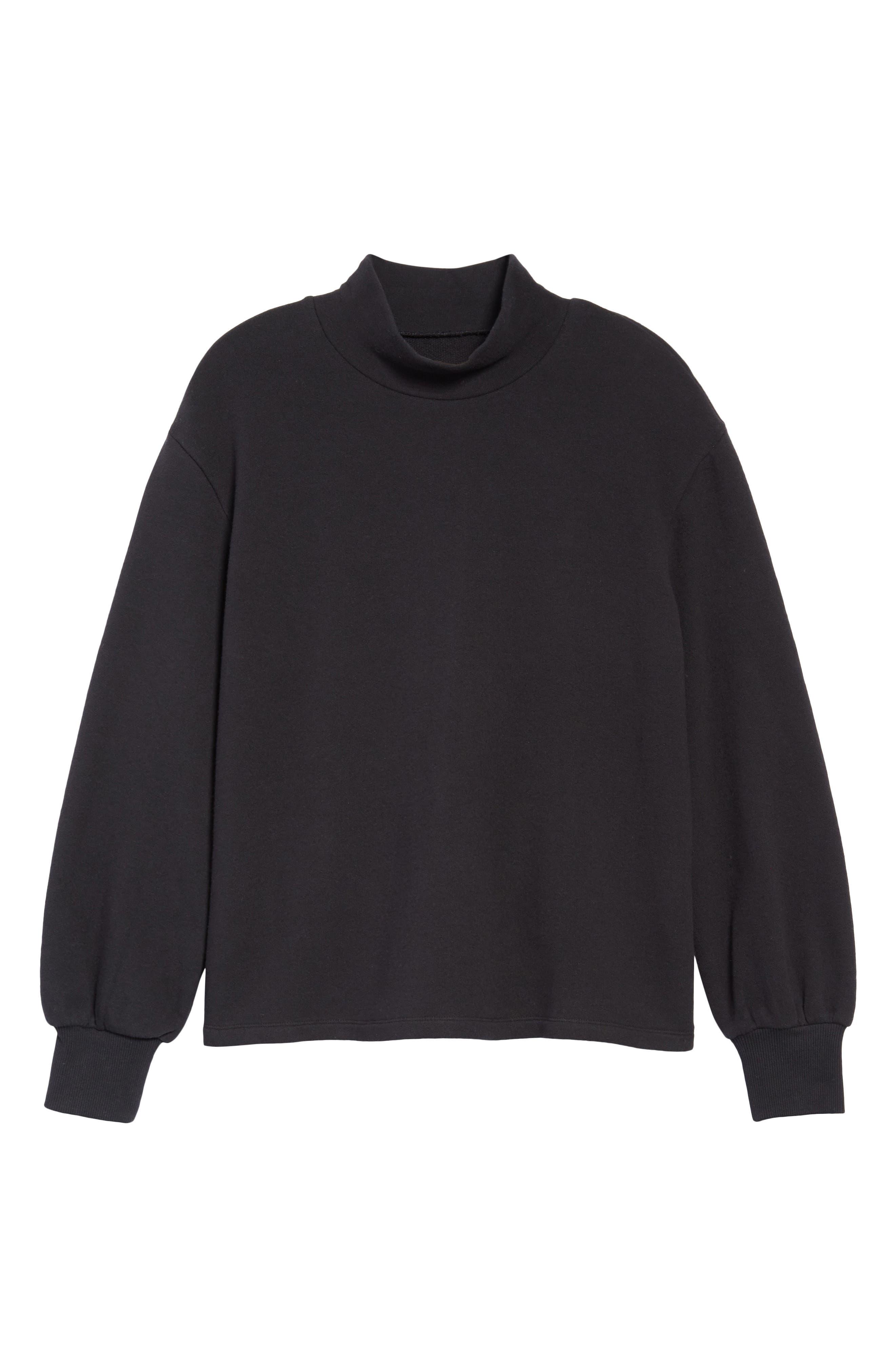 Madewell Mock Neck Bubble Sleeve Sweatshirt