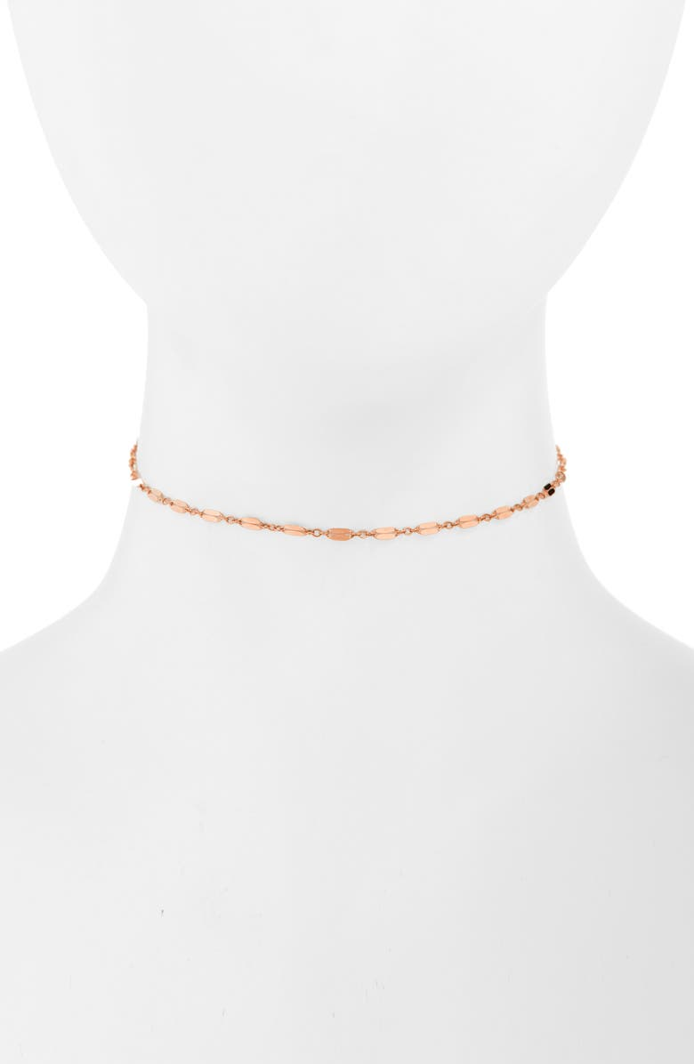 ALL THE WIRE Bella Adjustable Choker, Main, color, ROSE GOLD