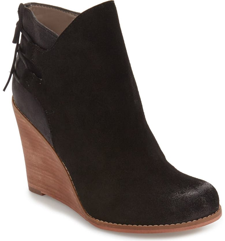 HINGE 'Tracer' Wedge Bootie, Main, color, 001