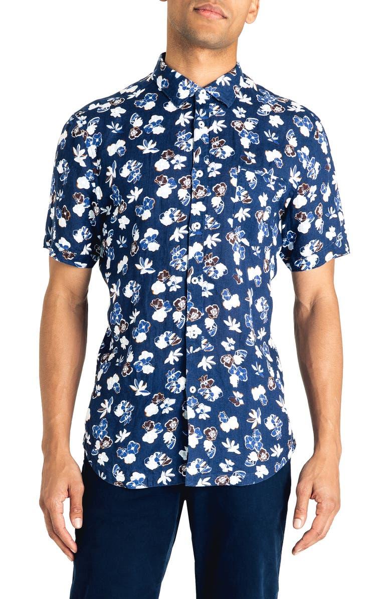 Good Man Brand Yoyogi Park Slim Fit Floral Linen Shirt