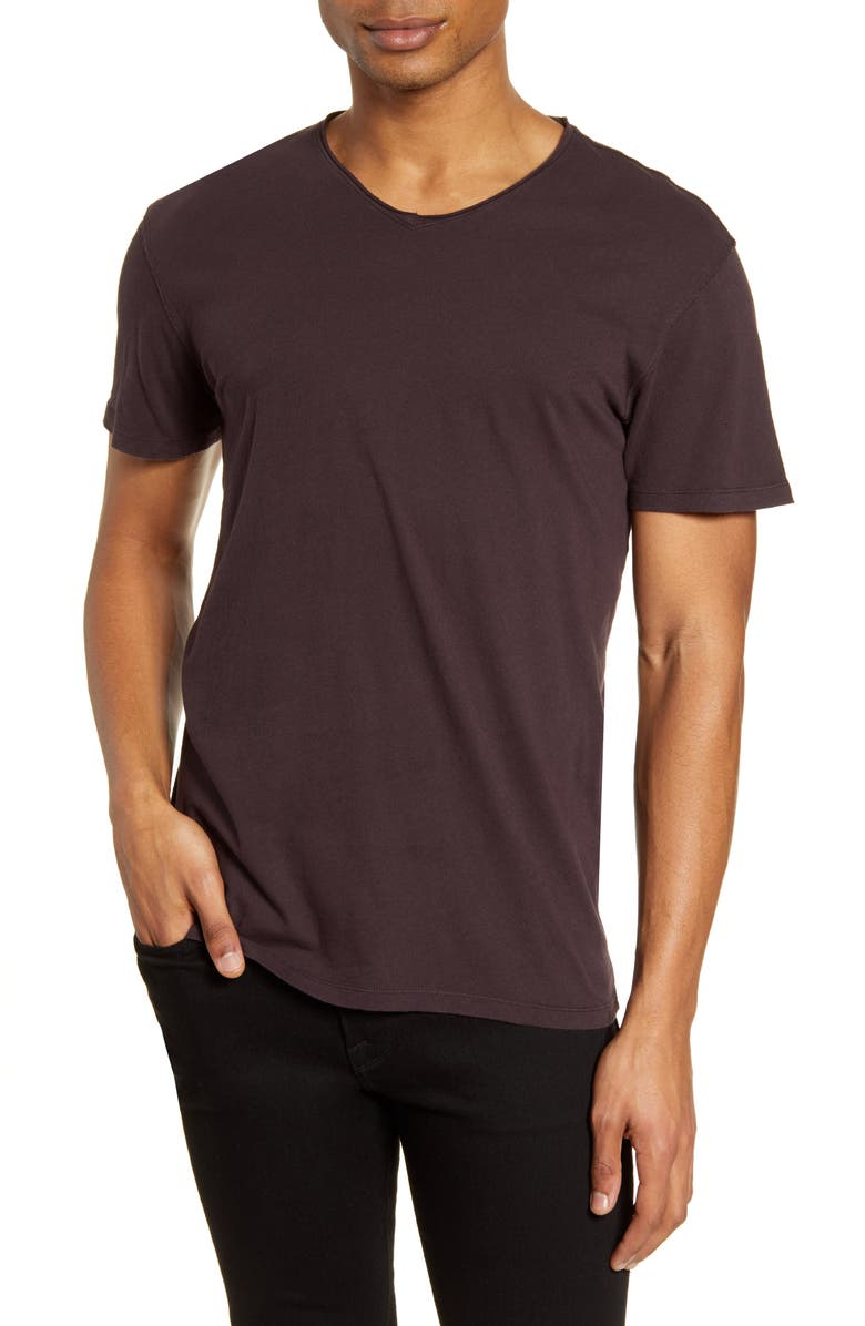 ALLSAINTS Figure Rolled V-Neck T-Shirt, Main, color, 930
