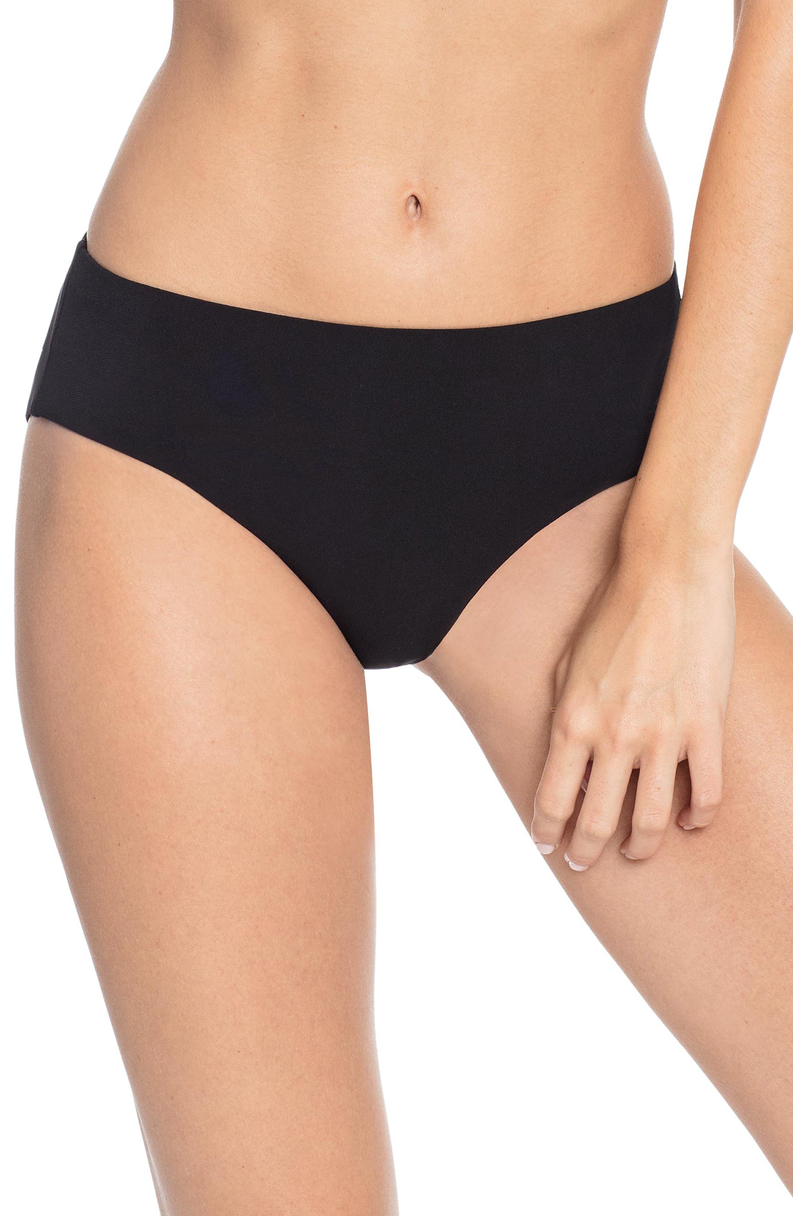 Robin Piccone Ava High Waist Bikini Bottoms, Black