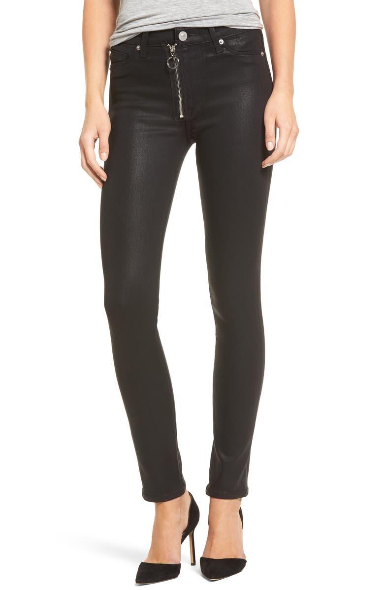 HUDSON JEANS Barbara High Waist Skinny Faux Leather Pants, Main, color, 001