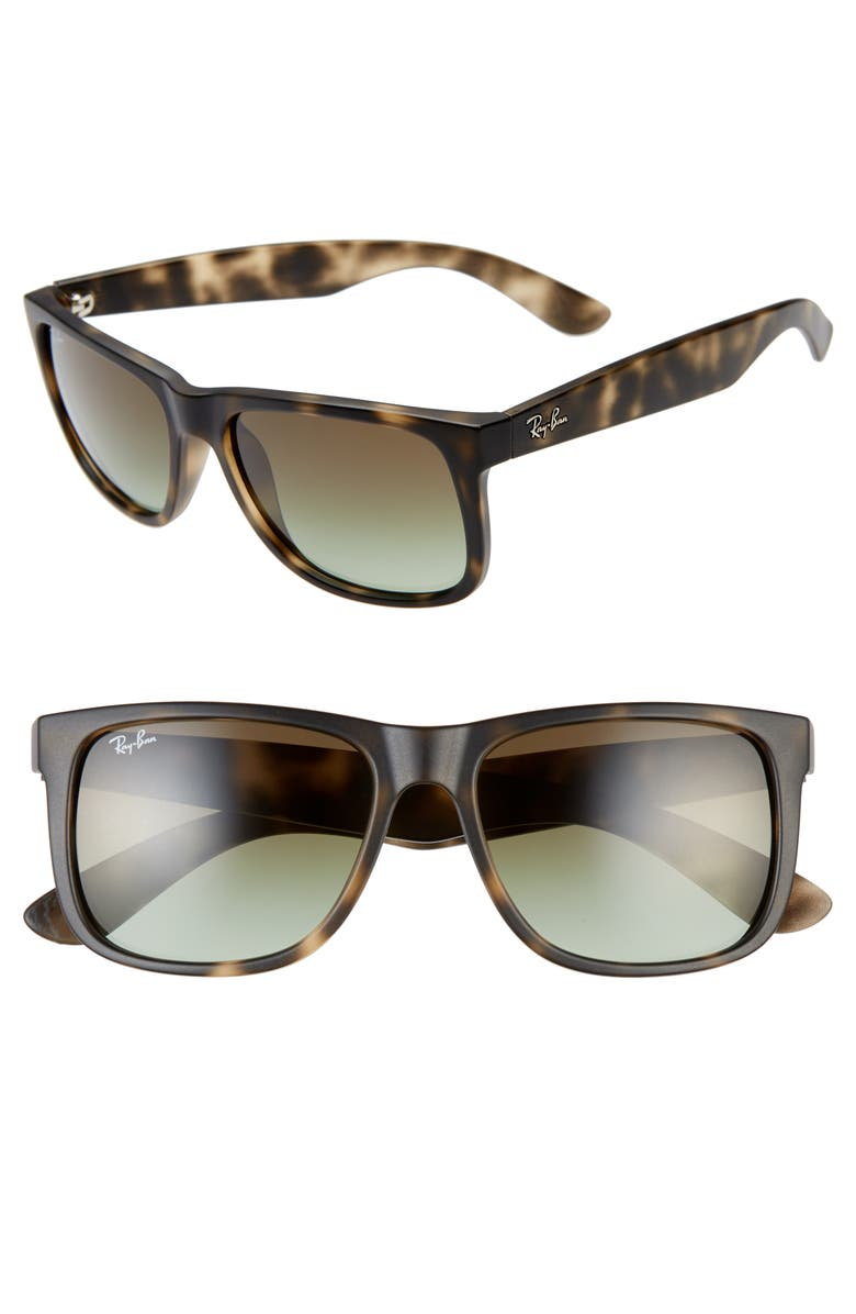 RAY-BAN 'Justin Classic' 54mm Sunglasses, Main, color, MATTE GREY HAVANA
