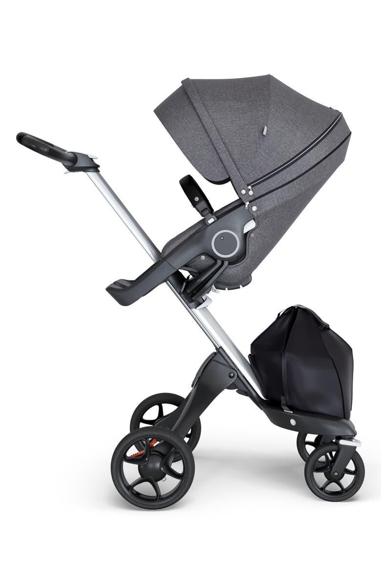 STOKKE Xplory<sup>®</sup> Silver Chassis Stroller, Main, color, BLACK MELANGE