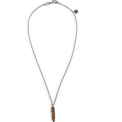 John Varvatos Single Feather Pendant Necklace